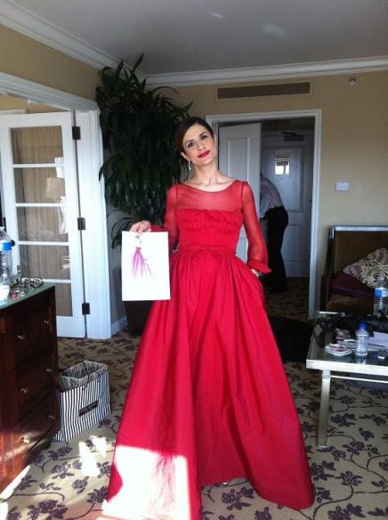 Livia Firth in Valentino