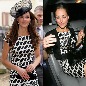 Kate Middle wearing the same dress twice