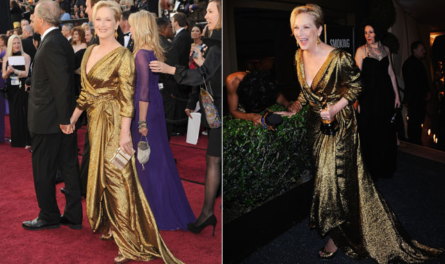 Meryl Streep at the Oscars in Lanvin