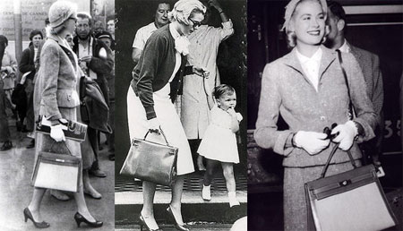 Grace Kelly - White Gloves and Hermès Kelly Bag