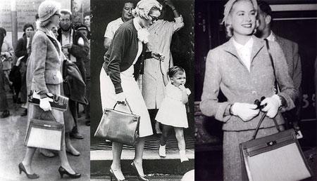 Grace Kelly - White Gloves and Hermès Kelly Bag