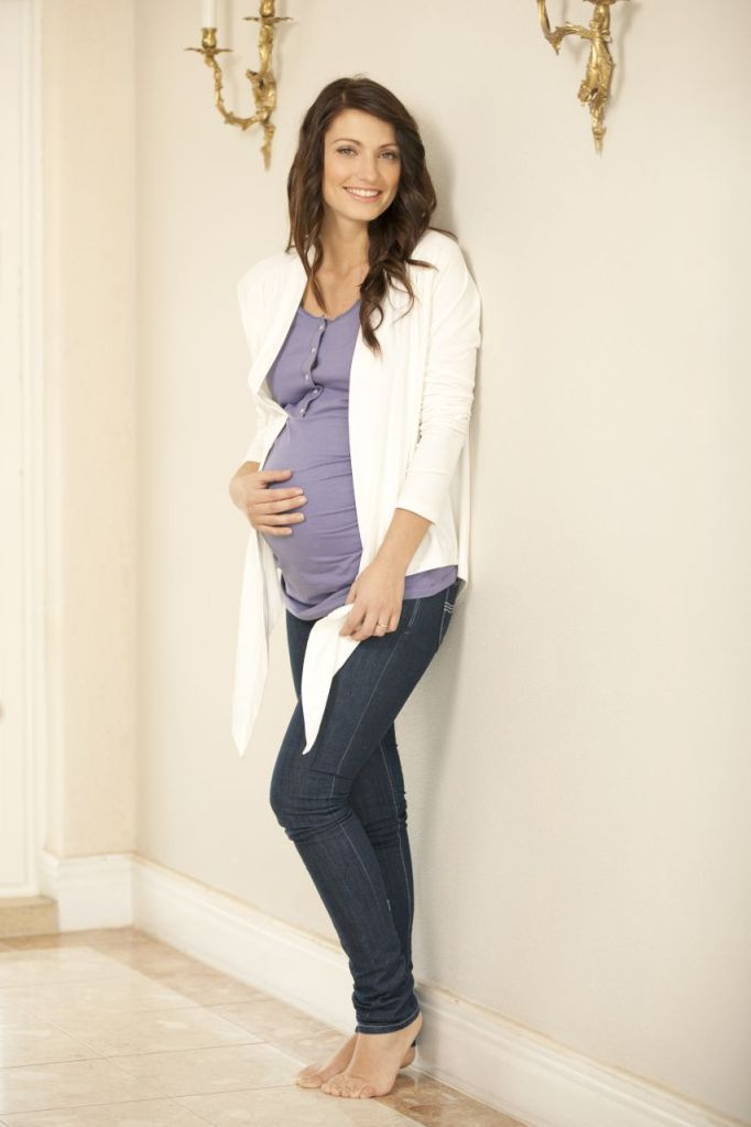 sorella & me maternity sleepwear - organic cotton lounge wrap