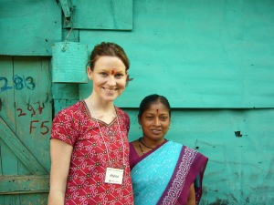 Anna in India with Oxfam