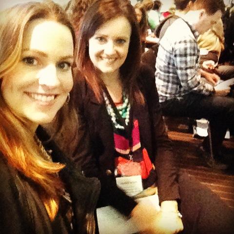 sorella & me at the ProBlogger Training Event 2012