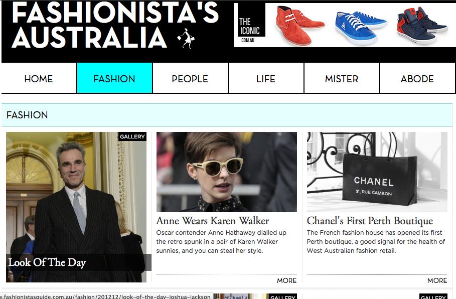 Fashionista's Australia - www.fashionistasguide.com.au/