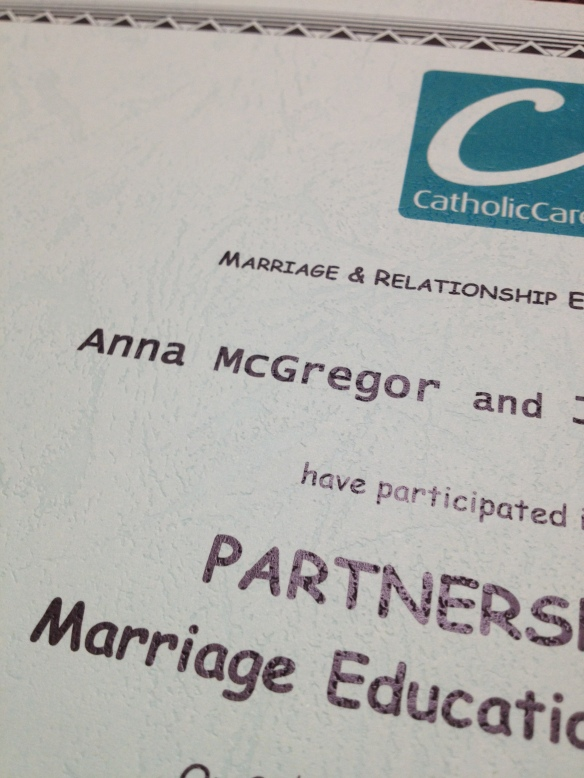 I went to Marriage School and passed. (I have a certificate to prove it).
