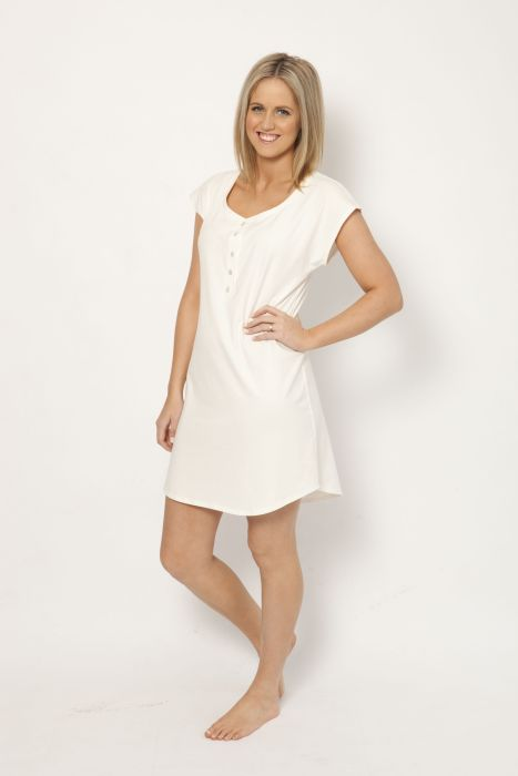The sorella & me organic sleepshirt is $59.95 with your 25% Easter saving.  A lovely nightie for both sleeping and lounging.