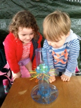 "KerPlunk! My 3 year old wanted the marbles my 5 year old understood the game and didn't, so in this game ""everyone's a winner""!!!"