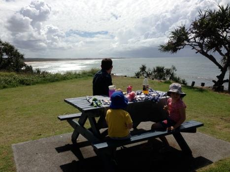 The perfect picnic spot.  Tweed Coast.