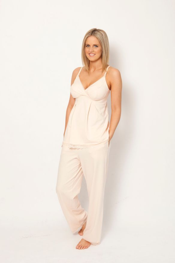 sorella & me sleep & lounge pant in pink blush $59.95