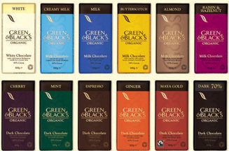 Green & Black's organic & fairtrade chocolate