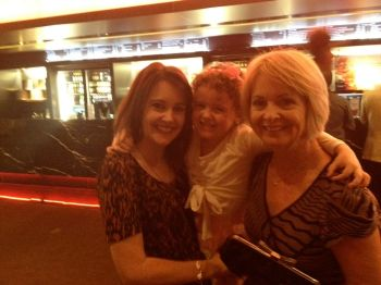 My daughter, mum and I at 'Annie' the musical. A special girls night out for us!