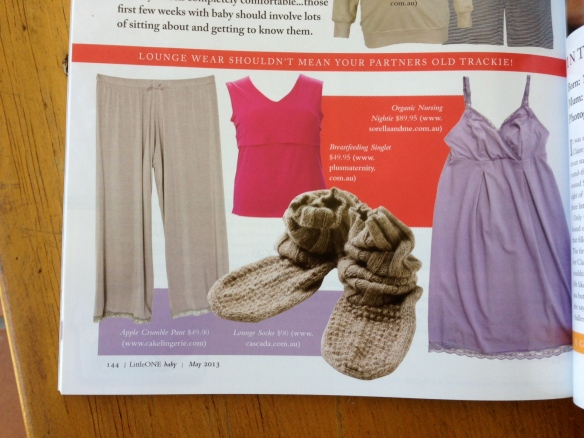 Lounge wear shouldn't mean your partners old trackie!! sorella & me organic nursing nightie p.144