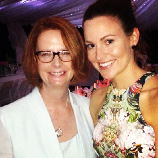 Anna McGregor with Julia Gillard (March 2013)