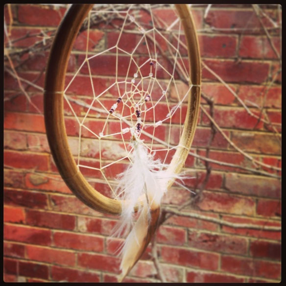 If I am able to sleep I usually end up having terrible nightmares. I've tried everything to stop them with no luck... so I have recently invested in a Dreamcatcher...  Nightmares be gone!