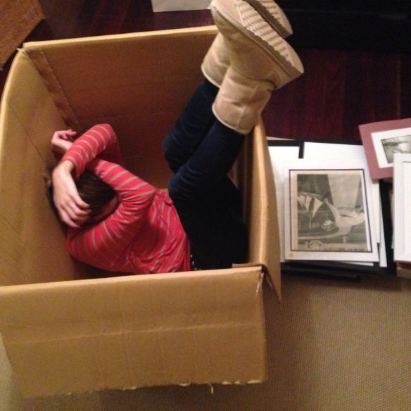 I find that hiding in a packing box for a while every now and then can help reduce anxiety
