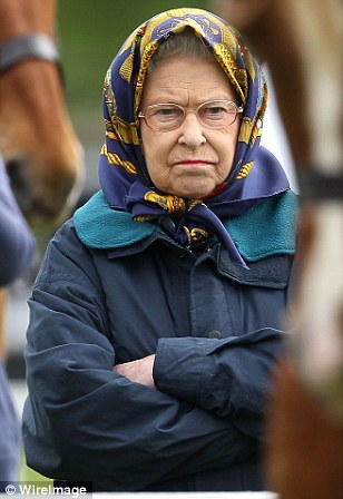 Maybe if you have a problem with people helpnig you, get yourself a headscarf like the Queen - might help block out the noise. image by Wireimage